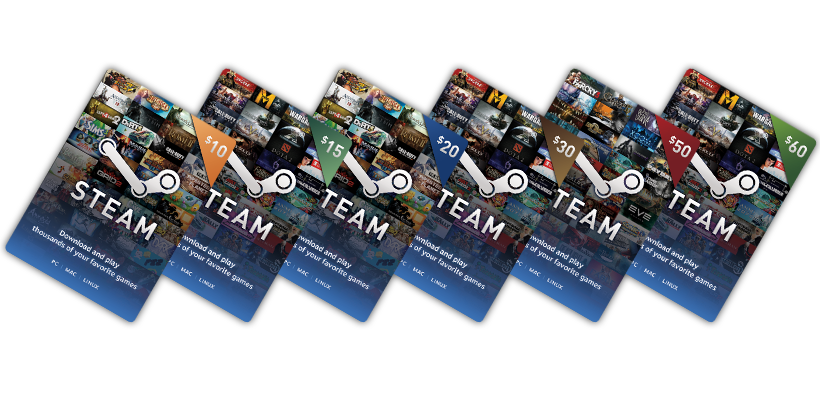 Free Steam Wallet Cards
