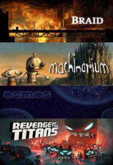 Braid + Machinarium + Osmos + Revenge of The Titans