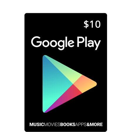 $10 Google Play Gift Card (US)