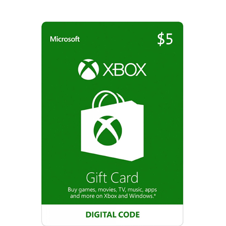 $5 Xbox Live Gift Card (US)